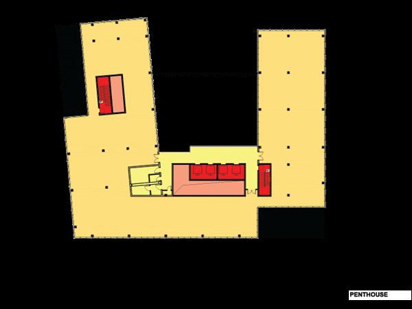 Floorplan střešní patro