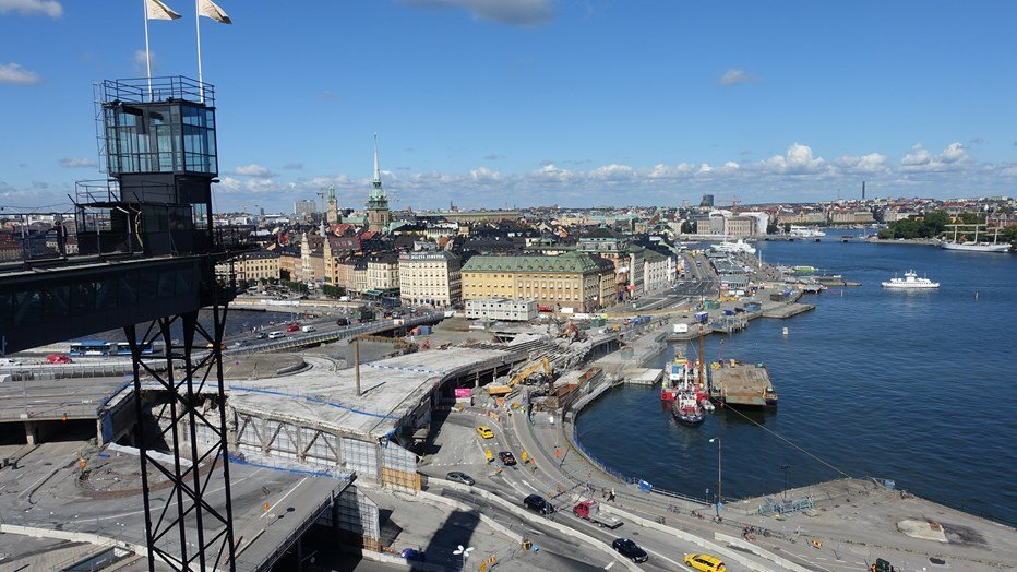 Slussen from above, end August 2016