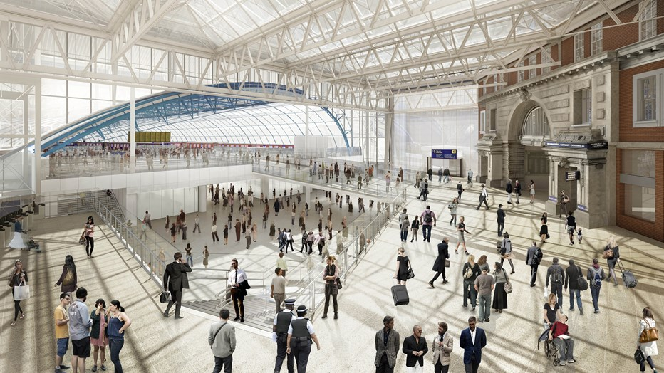 Waterloo station improvement artist impression